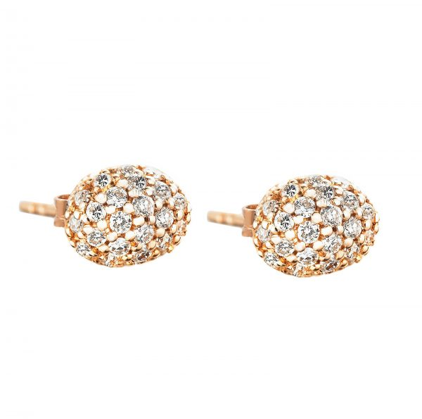 Mestergull Love Beads in 18k gold with diamonds as stars. - Efva Attling EFVA ATTLING Love Bead Ørepynt