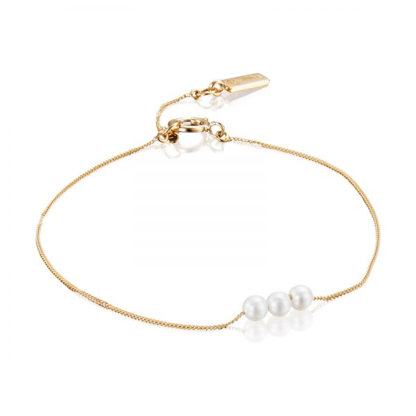 Mestergull Big dreams with little pearls for cool girls. - Efva Attling EFVA ATTLING My Little Pearl Armbånd
