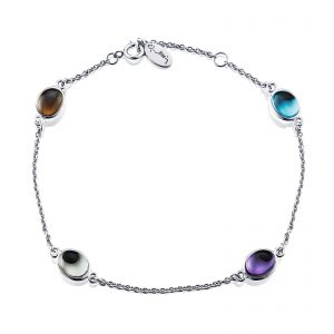 Mestergull Love beads' in silver and gold. - Efva Attling EFVA ATTLING Love Bead Armbånd