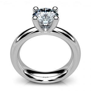 Mestergull Spesiallaget Mill ring til kundesten. Utført i hvitt gull 585. DESIGN STUDIO Solitaire Ring