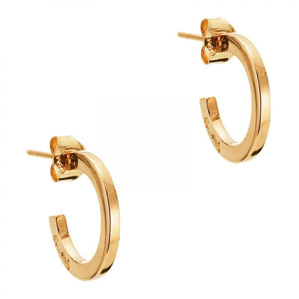 Mestergull Klassiske øreringer i gull med Efvas signatur EFVA ATTLING Hoops Ørepynt