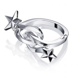 Mestergull Catch a falling star and wish for everything you dream about. Only you can make your dreams come true. - Efva Attling EFVA ATTLING Catch a Falling Star Ring