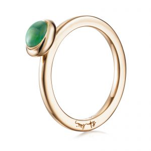 Mestergull Choose your colour stone to wear alone or to match many of them as stack rings. - Efva Attling EFVA ATTLING Love Bead Ring