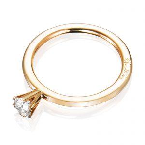 Mestergull Solitaire ring 0.30 ct EFVA ATTLING High On Love Ring