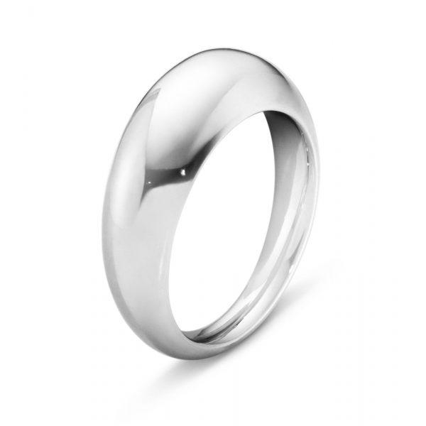 Mestergull Curve ring i sølv slim - minimalistisk og organisk GEORG JENSEN Curve Ring