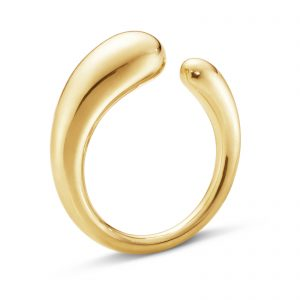 Mestergull Mercy organisk ring i gult gull - small GEORG JENSEN Mercy Ring