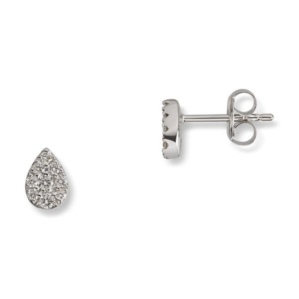 Mestergull Delikat ørepynt i hvitt gull med diamanter MG DIAMONDS Ørepynt