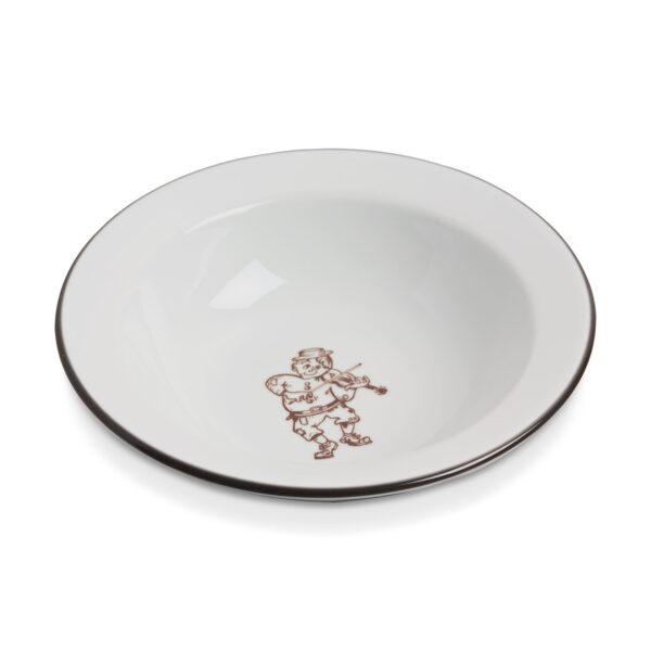 Mestergull Grøtskål i porselen med mønster fra Per Spellmann PER SPELMANN Skål / Tallerken