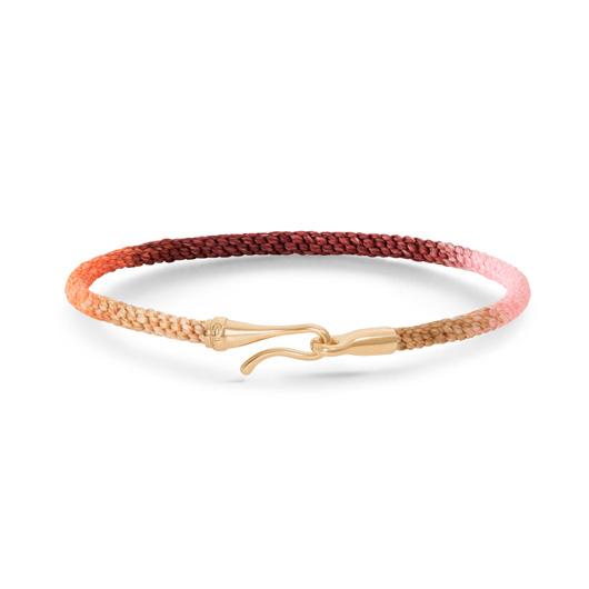 Mestergull Life armbånd med 18 kt. gult gull lås i fargen Berry (15, 16, 17, 18, 19, 20 eller 21 cm) LYNGGAARD Life Armbånd