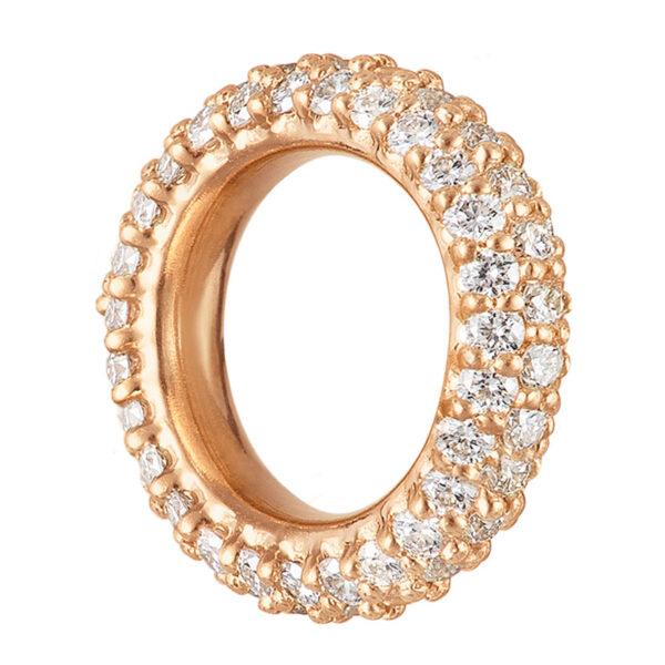 Mestergull Anheng til ørepynt i 18 kt. gult gull med diamanter - liten LYNGGAARD Ørepynt