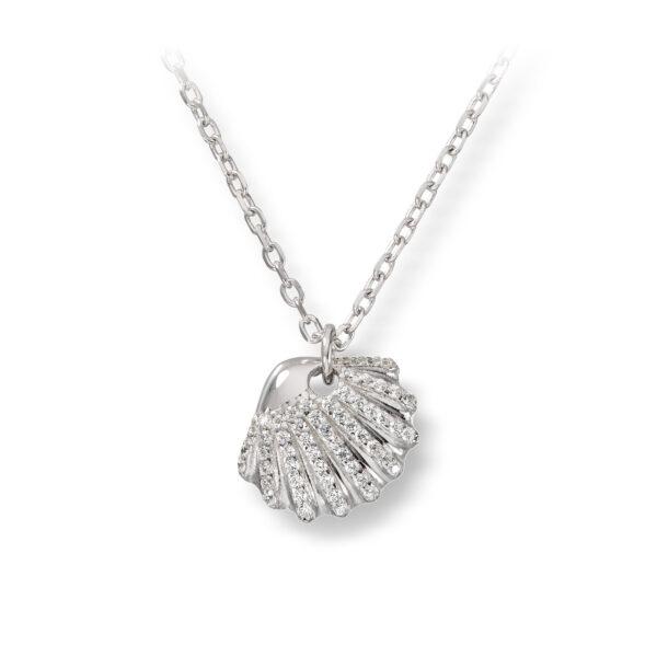 Mestergull Flott anheng i rhodinert sølv med krystal GID Anheng