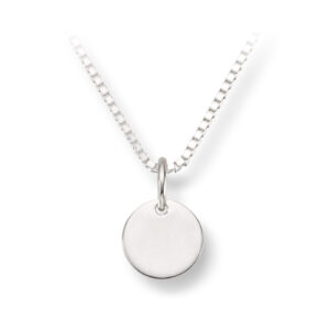 Mestergull Enkelt anheng i sølv med mulighet for gravering MG BASIC Anheng