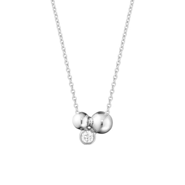 Mestergull Moonlight Grapes anheng i sølv med diamanter GEORG JENSEN Grape Anheng