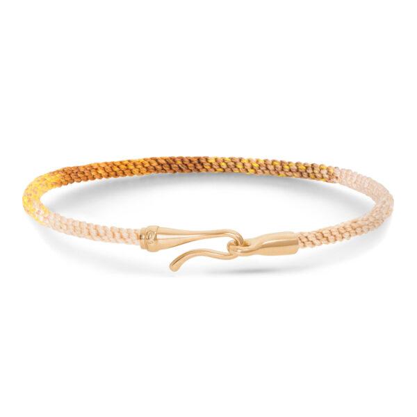 Mestergull Life armbånd med 18 kt. gult gull lås i fargen Golden Day (15, 16, 17, 18, 19, 20, 21 cm) LYNGGAARD Life Armbånd