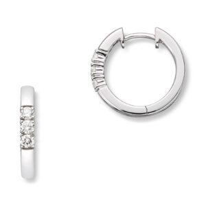 Mestergull Klassiske allianse øreringer i hvitt gull med diamanter ALLIANSE Dia. 0,06 ct. Ørepynt