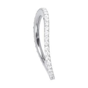 Mestergull Love Band buet rekkering i 18 kt. hvitt gull med diamanter 0,40-0,47 ct. TwVs LYNGGAARD Love Ring