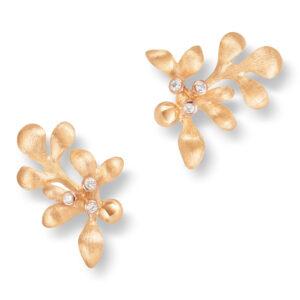 Mestergull Gipsy mini ørepynt i 18 K Gult gull med rosé gull detaljer - 6 diamanter totalt 0,06 ct. TwVs LYNGGAARD Gipsy Ørepynt