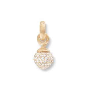 Mestergull Charm liten Sweet Drops i 18 K Gult gull og rosé gull pavé med 115 diamanter totalt 0,68 ct. TwVs LYNGGAARD Sweet Drops Charm