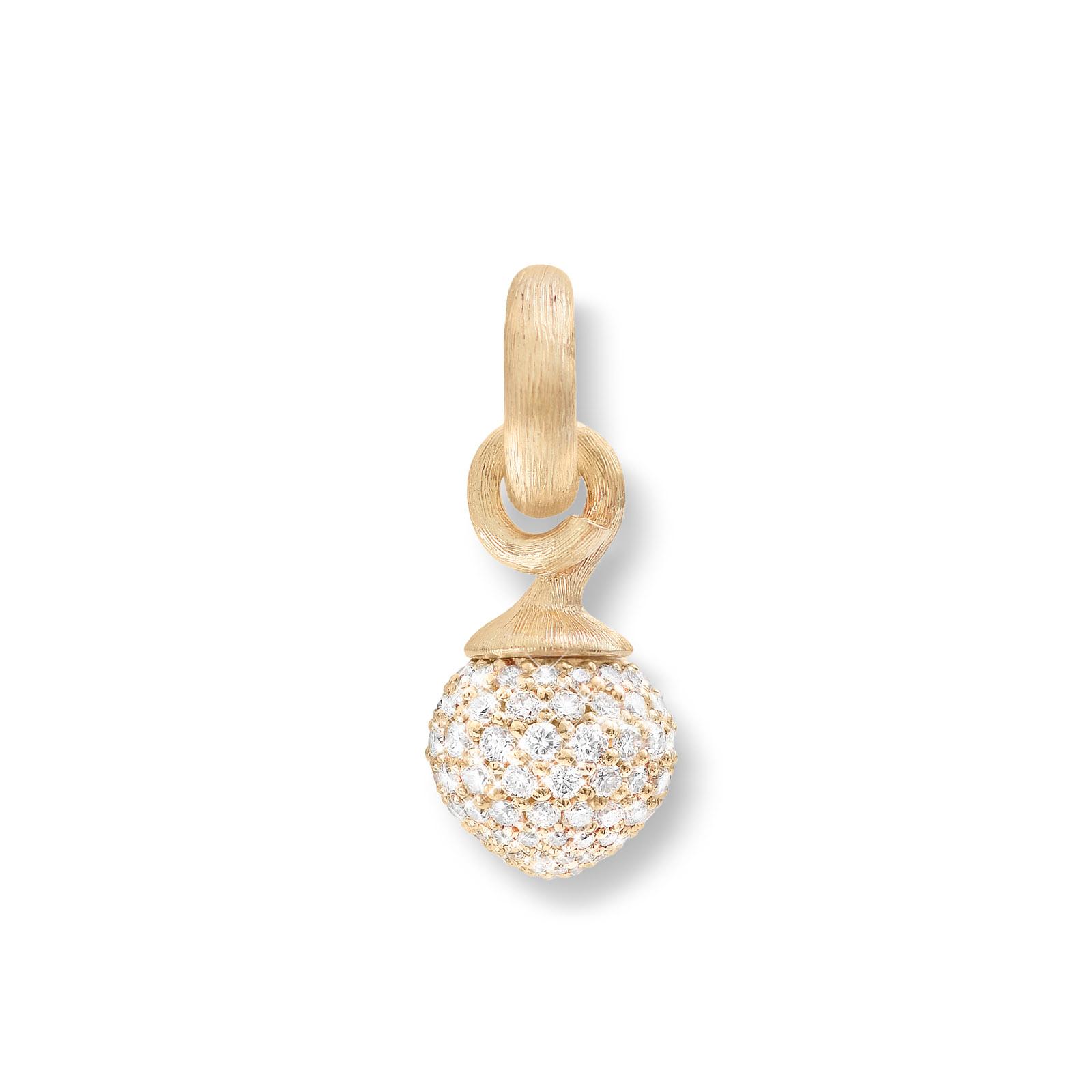 Mestergull Charm liten Sweet Drops i 18kt. gult gull og rosé gull pavé med 115 diamanter totalt 0,68 ct. TwVs LYNGGAARD Sweet Drops Charm