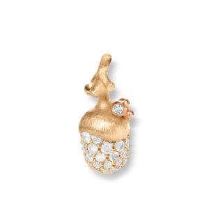 Mestergull Anheng lille eikenøtt Forest i 18 K Gult og rosé gull med 56 diamanter totalt 0,362 ct TwVs LYNGGAARD Forest Anheng