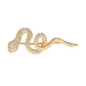 Mestergull Ørepynt Snakes i 18 kt. Gult gull med 151 diamanter, totalt 0,62 ct. TwVs. Selges enkeltvis. LYNGGAARD Snakes Ørepynt