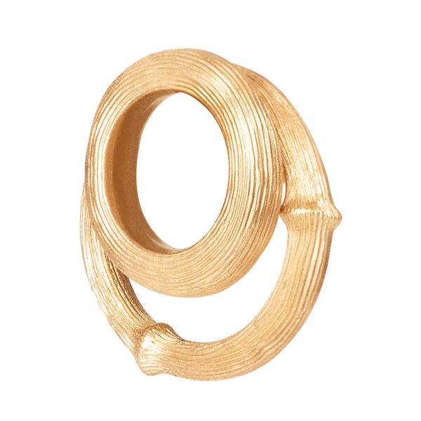 Mestergull Vedheng i 18 kt. Gult gull til Nature store øreringer LYNGGAARD Nature Ørepynt