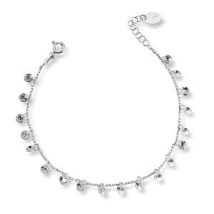Mestergull Lekket armbånd i rhodinert sølv med crystal MESTERGULL Armbånd