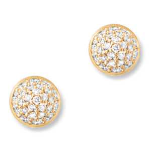 Mestergull Lotus 0 ørepynt i 18 K Gult gull pavé med 52 diamanter totalt 0x39 ct. TwVs LYNGGAARD Lotus Ørepynt