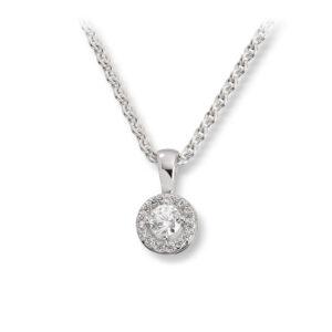 Mestergull Elegant anheng i rhodinert sølv med cubic zirkonia GID Anheng
