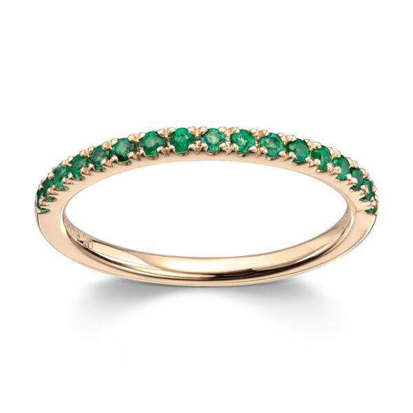 Mestergull Tidløs ring i gult gull med smaragd MG DIAMONDS Ring