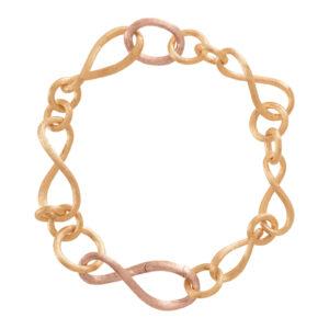 Mestergull Love armlenke lite 18 kt. gult og rosè gull 18 cm LYNGGAARD Love Armbånd