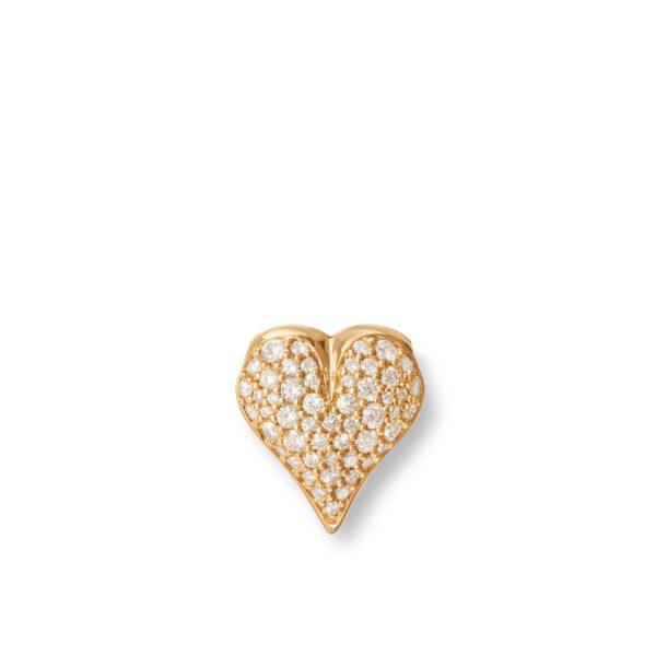Mestergull Heart lås 18 kt. gult gull med diamanter, selges uten kjede LYNGGAARD Hearts Diverse
