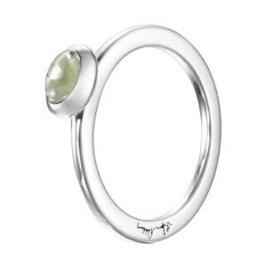 Mestergull Choose your colour stone to wear alone or to match many of them as stack rings - Efva Attling EFVA ATTLING Love Bead Ring