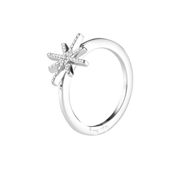 Mestergull Let the diamonds sparkle - Efva Attling EFVA ATTLING Beam & Stars Ring