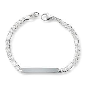 Mestergull Tøft ID-Armbånd figaro diamant slipt 19 cm MESTERGULL Figaro Armbånd