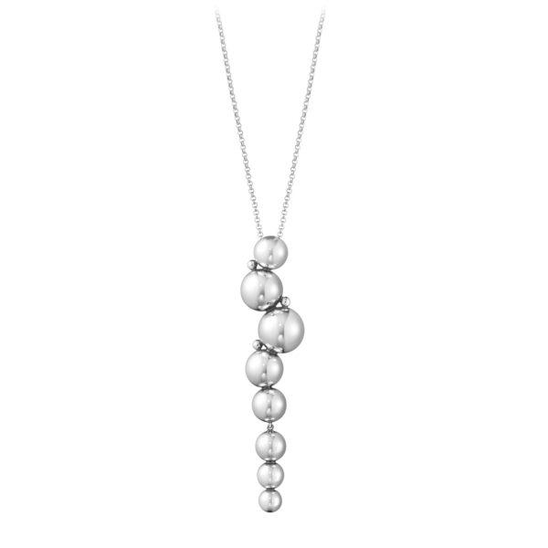 Mestergull Moonlight Grapes anheng i oksidert sølv inkl kjede GEORG JENSEN Grape Anheng
