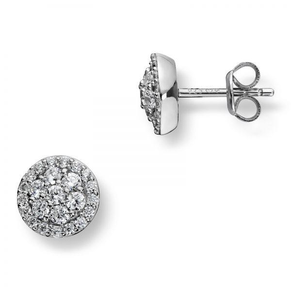 Mestergull Lekker ørepynt i rhodinert sølv med hvite cubic zirkonia GID Ørepynt
