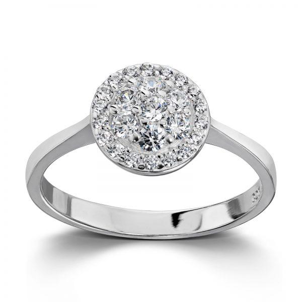 Mestergull Lekker ring i rhodinert sølv med hvit cubic zirkonia GID Ring