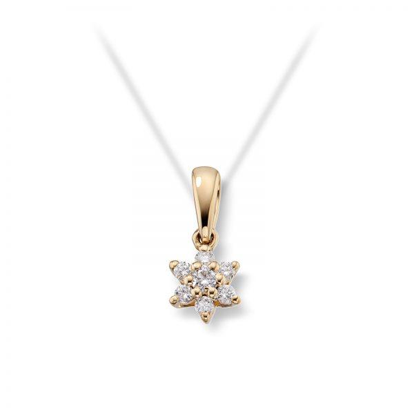 Mestergull Delikat anheng i gult gull med diamanter MG DIAMONDS Anheng