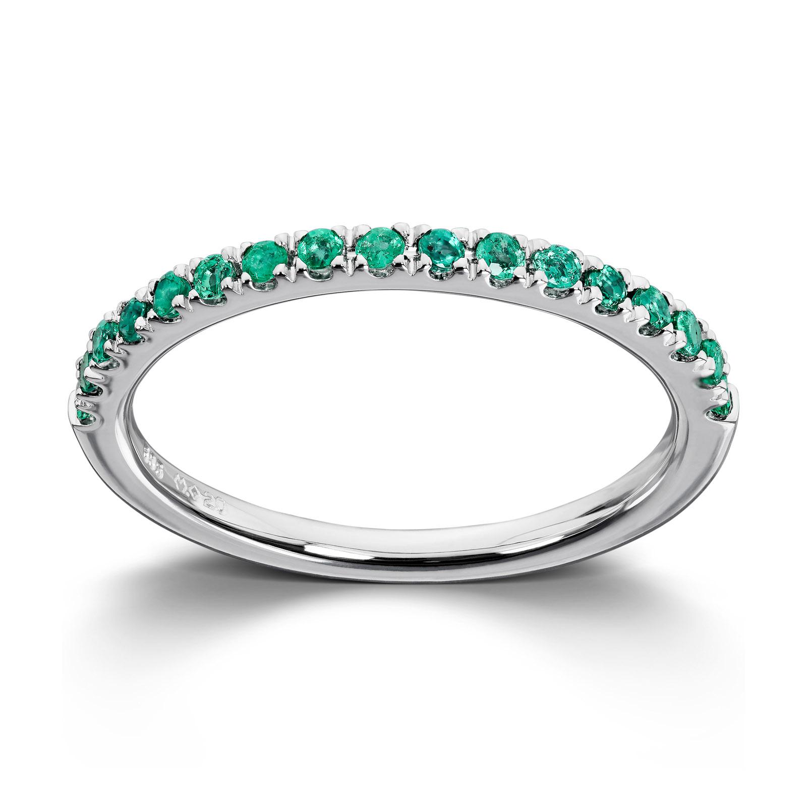 9db92439 Mestergull Tidløs ring i hvitt gull med smaragd MG DIAMONDS Ring