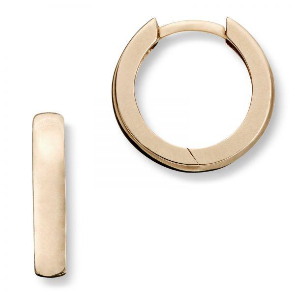 30a60105 Mestergull Trendy øreringer i gult gull MG BASIC Ørepynt