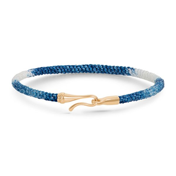 Mestergull Life armbånd med 18 kt. gult gull lås fargen Blue Jeans (15, 16, 17, 18, 19, 20, 21 cm) LYNGGAARD Life Armbånd