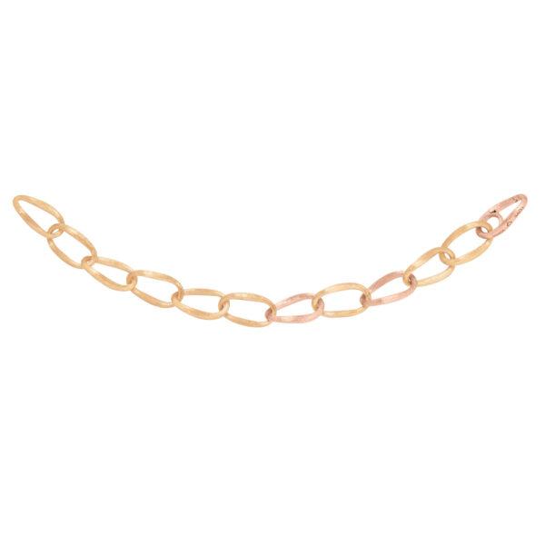 Mestergull Armlenke Love mellom i satinert 18 K Gult gull med 3 ledd i rosé gull LYNGGAARD Love Armbånd