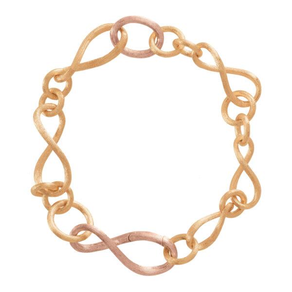 Mestergull Love armlenke lite 18kt. gult og rosè gull 20 cm LYNGGAARD Love Armbånd