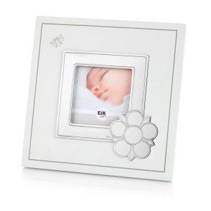 Mestergull Fotoramme i tinn og tre (MDF) med plass til gravering av navn og alle fødselsdata. EIK Ramme