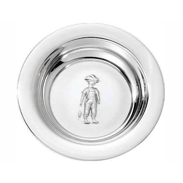 Mestergull Barnetallerken i sølv fra mønsteret Hans HANS Skål / Tallerken