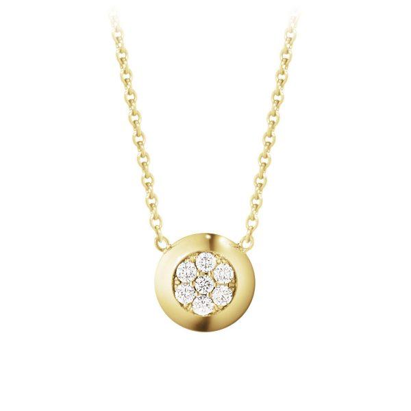 Mestergull Aurora anheng i 18kt. hvitt gull med diamanter GEORG JENSEN Aurora Kjede