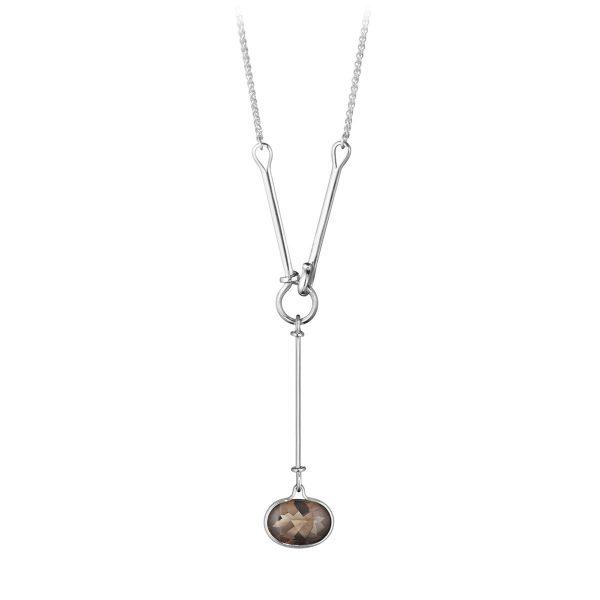 Mestergull Savannah Halssmykke i sølv med Røkkvarts GEORG JENSEN Savannah Anheng