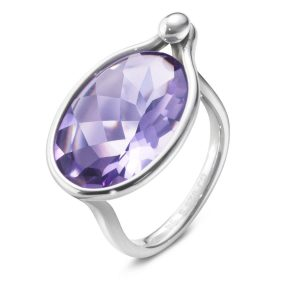 Mestergull Savannah Ring i sølv med amethyst GEORG JENSEN Savannah Ring