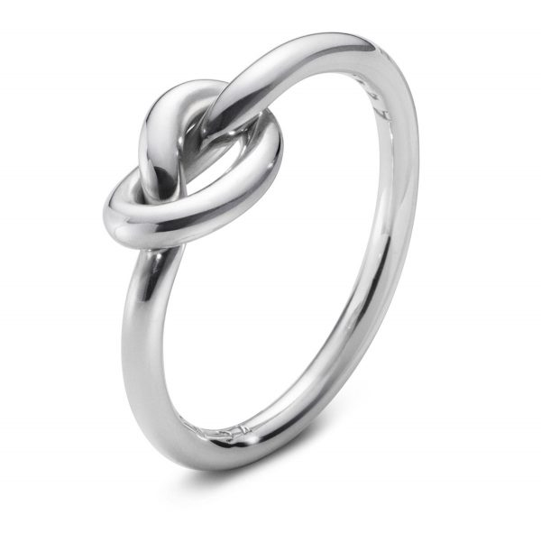 Mestergull Love Knot ring i sølv GEORG JENSEN Love Knot Ring